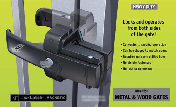 LokkLatch Magnetic Architectural Gate Lock