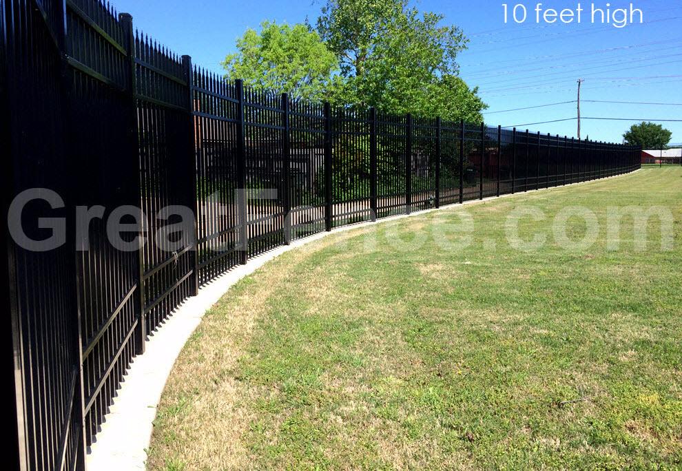 10 feet high Industrial fence.