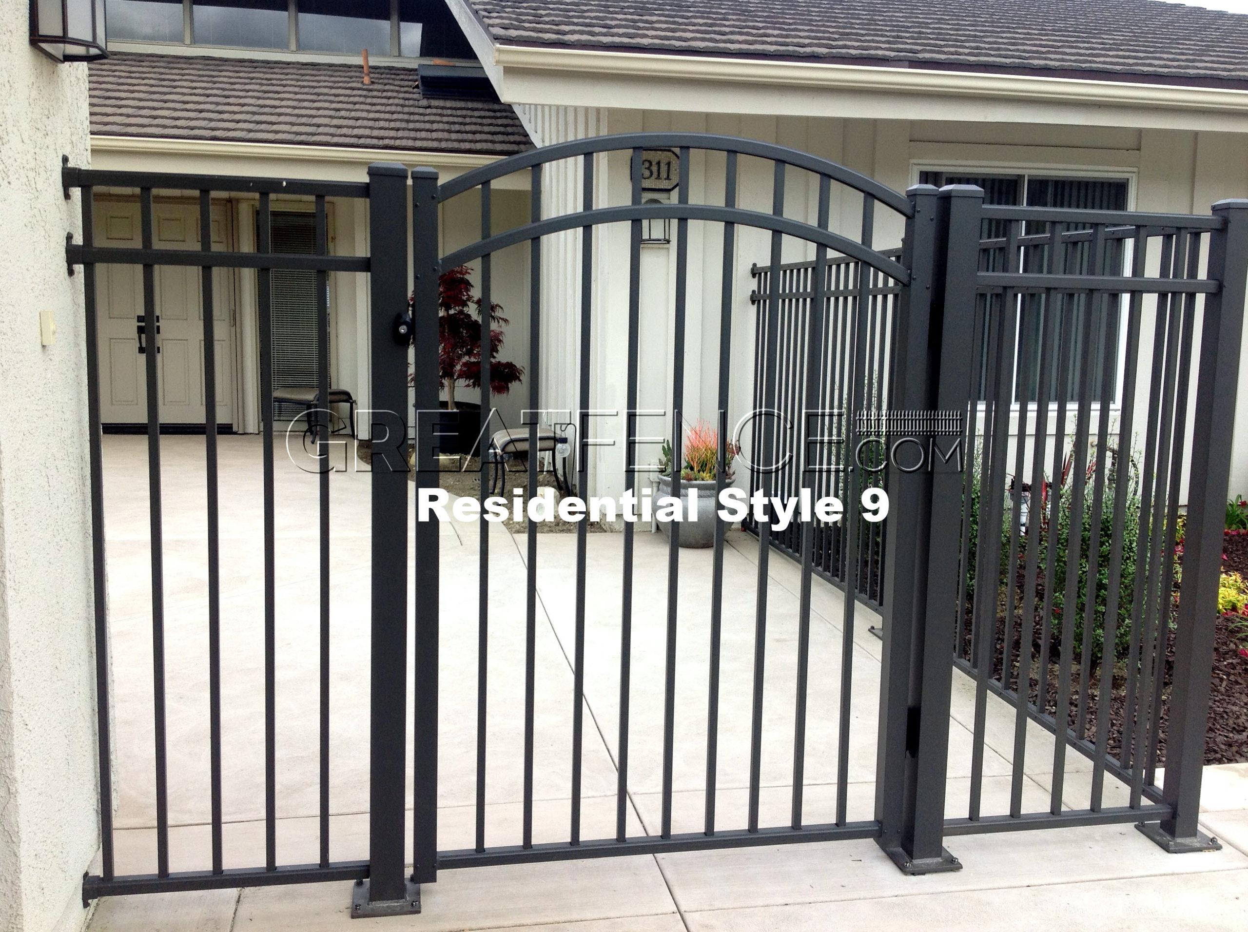 Scaled Aluminum Fence