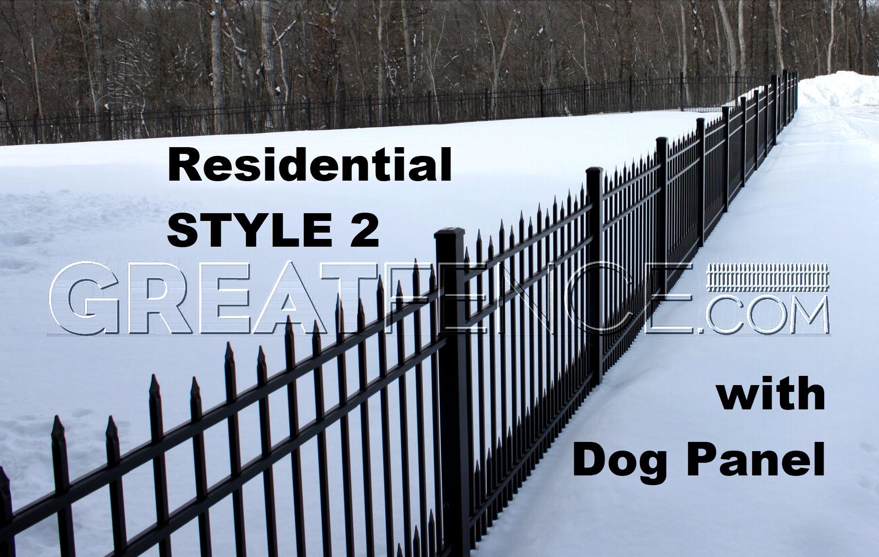 Aluminum Fence In Snow