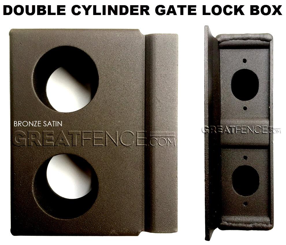 Double Cylinder Gate Lock box