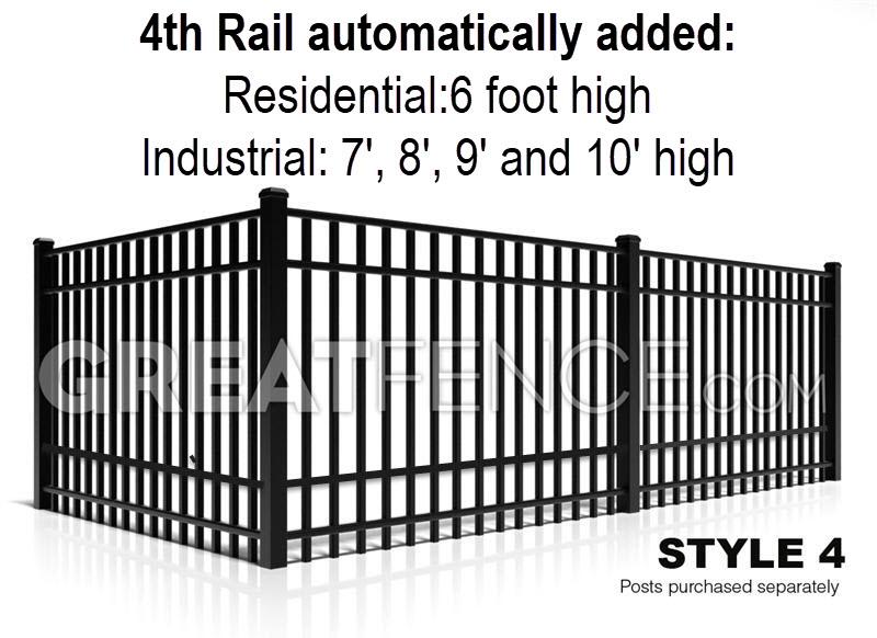 Flat Top standard bottom rail 4 Rails